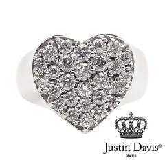 Justin Davis srj151 Shining heart ring STOCK