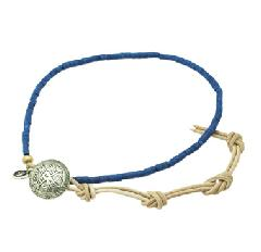 amp japan  12ah-013/Lapis  beads leather bracelet & anklet