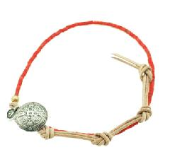 amp japan  12ah-013/Coral  beads leather bracelet & anklet