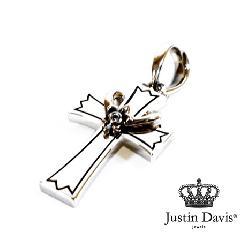 Justin Davis spj482 BABY HEART CROSS Pendant
