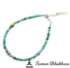 Suman Dhakhwa SD-B39 Turquoise Beads Bracelet