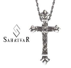 SAHRIVAR sn49s13a Patten Cross Necklace