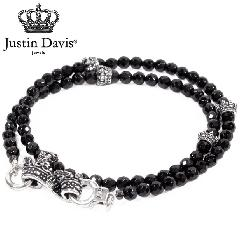 Justin Davis sbj640 BLACK SERPENT/CROWN Bracelet STOCK