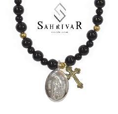 SAHRIVAR sn39s13s Notre Dame Onyx Necklace