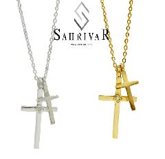 SAHRIVAR sn51/52s14s W Cross Necklace