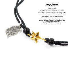 amp japan 10ah-210g/BLACK Gold star Brece & Anklet