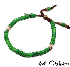 M.Cohen B700/Green Antique Beads Bracelet