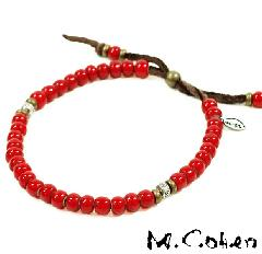 M.Cohen B700/Red Antique Beads Bracelet