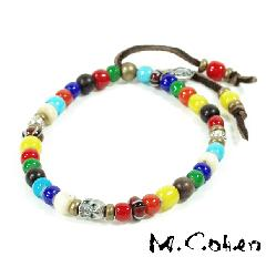 M.Cohen B700/Multi Color  Beads Bracelet