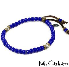 M.Cohen B700/Blue Antique Beads Bracelet