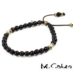 M.Cohen B700/Black Antique Beads Bracelet