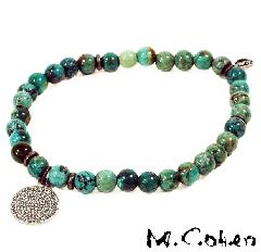 M.Cohen B565 Turquoise on Coin Bracelet