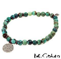 M.Cohen B565 Turquoise on Coin Bracelet
