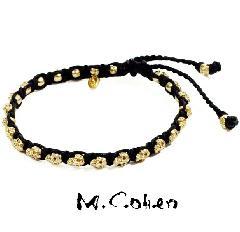 M.Cohen B860-G  SKULL GOLD Bracelet