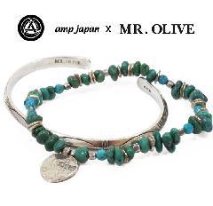 amp japan x Mr.Olive M-3425/TURQUOISE Turquoise & Bangle