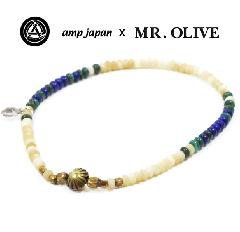 amp japan x Mr.Olive M-4133/WHxBLU Anklet