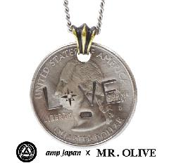 amp japan x Mr.Olive M-3426 Coin Necklace -LOVE-