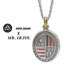 amp japan x Mr.Olive 14mod-100sv USA color Locket Necklace Silver