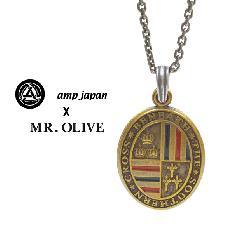amp japan x Mr.Olive 14mod-100br USA color Locket Necklace Brass