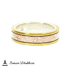 Suman Dhakhwa SD-R31 Small Brass Borders Ring