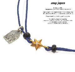 amp japan 10ah-210g/NAVY Gold star Brece & Anklet