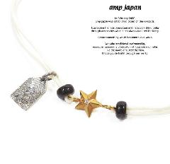 amp japan 10ah-210g/WHITE Gold star Brece & Anklet