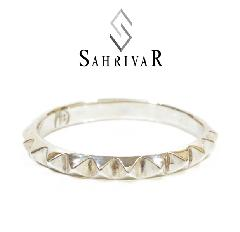 SAHRIVAR sr36s14s Studs Band Ring