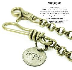 amp japan 11ad-218 triple wallet chain w/HOPE coin