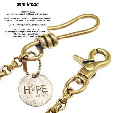 amp japan 11ad-215 round wallet chain w/HOPE coin