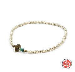 Sunku SK-079 Silver Beads Anklet