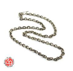 Sunku SK-093 Oval Silver Chain(L)