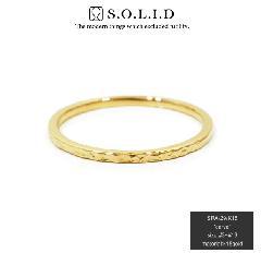 S.O.L.I.D SRA-29 K18YG carve ring