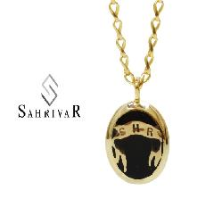 SAHRIVAR SN69B14A/BLACK Enarmeled Necklace