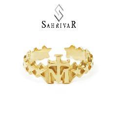 SAHRIVAR sr47b14a Cross on M Ring L