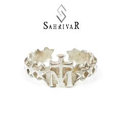 SAHRIVAR sr48s14a Cross on M Ring L