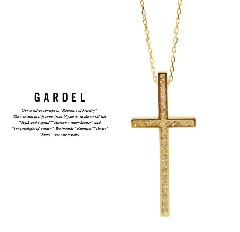 GARDEL gdp085 K18YG TWO,ME CROSS NECKLACE