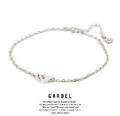 GARDEL gda002D Teardrop skull Anklet Silver