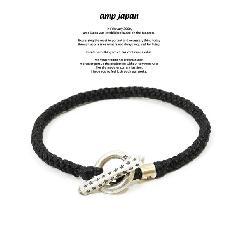 amp japan 15AH-425BK Black Knit Star Bracelet