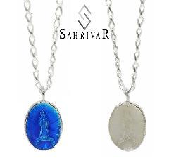 SAHRIVAR SN87S15S Enameled Medai Necklace