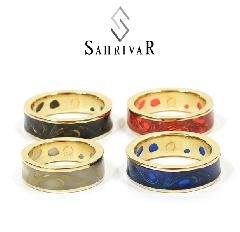 SAHRIVAR SR66B15S Enameled Floral Ring