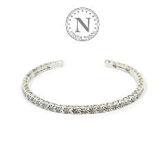 NORTH WORKS W-013 900Silver Square Cuff Bracelet
