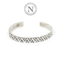 NORTH WORKS W-036 900Silver Stamp Cuff