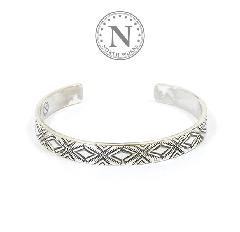 NORTH WORKS W-038 900Silver Stamp Cuff