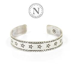 NORTH WORKS W-046 900Silver Stamp Cuff M