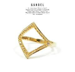 GARDEL GDR-086/K18YG CRAFFITI RING