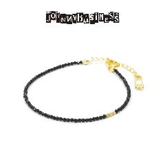 JOHNNY BUISINESS JB03B16S Basic Black Bracelet Gold on Brass