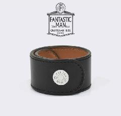 FANTASTIC MAN / Leather Bangle #321 SV Black × Camel