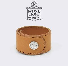 FANTASTIC MAN / Leather Bangle #321 SV Camel