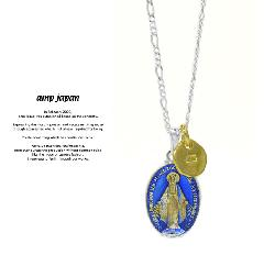 amp japan 16AHK-133 Grand Medaille Miraculeuse Necklace -Blue Epoxy-