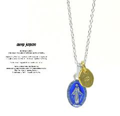amp japan 16AHK-132 Medaille Miraculeuse Necklace -Blue Epoxy-